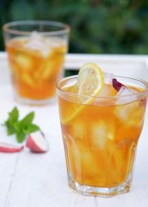 Ice tea perzik citroen munt